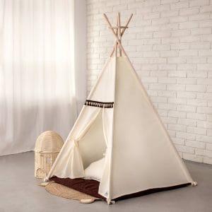 Bezpieczeństwo Namiot Tipi dla dziecka beżowy